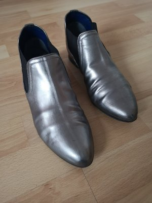 Business Shoes silver-colored