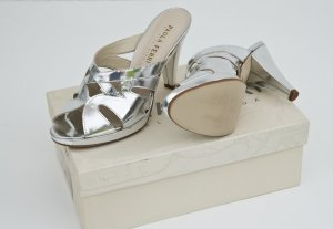 Silberne High Heel Pantolette, Gr. 39