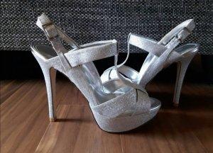 Silberne High Heel Sandaletten von Aldo