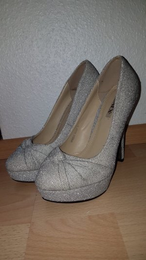 Silberne High Heels (35)
