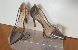 Silberne High-Heels/Pumps (von Jessica Simpson)