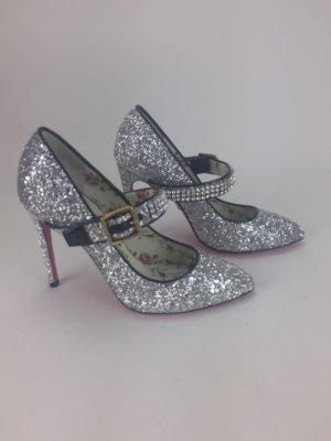 silberne High Heels von Gucci