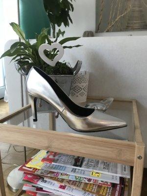 Silberne High Heels von ZARA Gr.38