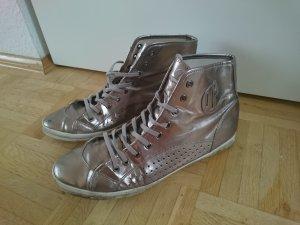 Silberne High-Top Sneakers