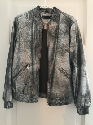 Zara Bomber Jacket silver-colored