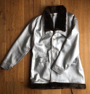 Silberne Jacke Fellimitat
