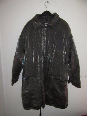 Silberne Jacke Mantel Vintage Retro oversize