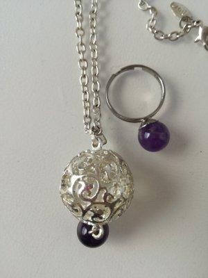 silberne Kette + Ring