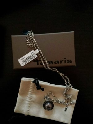 Silberne Kette von Tamaris mit grauer Perle