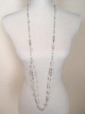 Bijou Brigitte Collar blanco-color plata