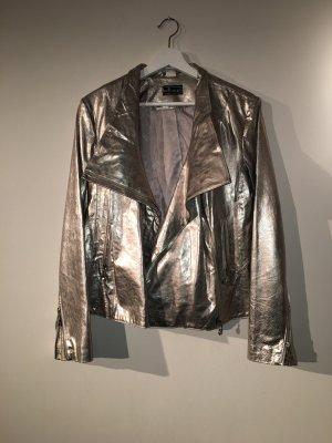 Silberne Lederjacke von Gloockler