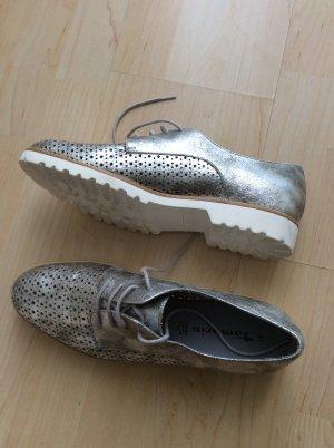 Tamaris Zapatos brogue color plata Cuero