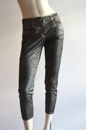 Silberne Metallic Jeans