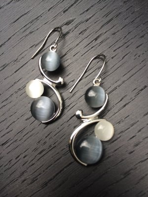Topshop Pearl Earring silver-colored-light grey
