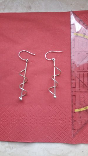Silberne Ohringe - modern, minimalistisch, Spiralen
