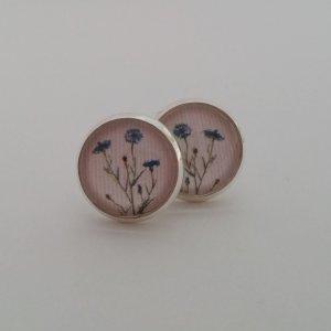 Silberne Ohrringe mit Blumen-Vintage-Design
