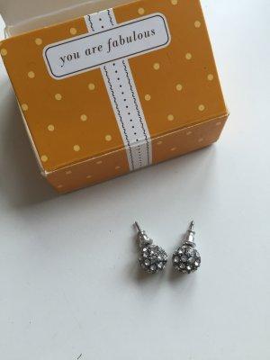 Silberne Ohrringe mit Glitzer von Stella & Dot