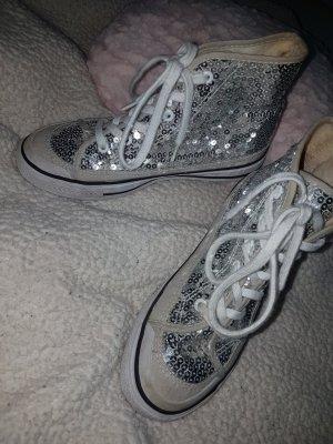silberne pailetten sneakers