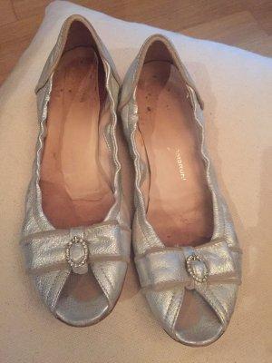 Attilio giusti leombruni Peep Toe Ballerinas silver-colored