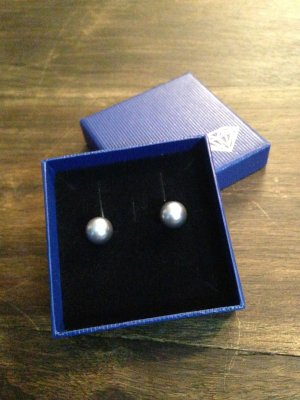 Pearl Earring silver-colored-grey