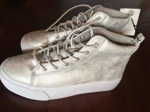 Silberne Plateau Sneakers von H&M