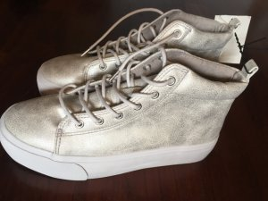 H&M Lace-Up Sneaker silver-colored-white