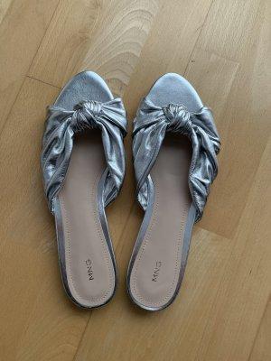 Mango Sandals silver-colored