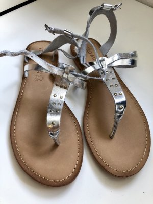 Vero Moda Sandalo toe-post argento