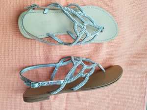 Guess Sandals silver-colored leather