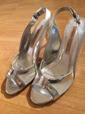 Silberne Sandalette in toller Netzoptik von Buffalo