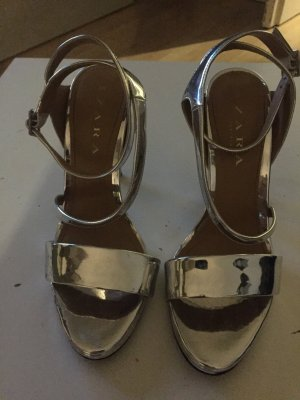 Silberne Sandaletten Gr.38 Zara
