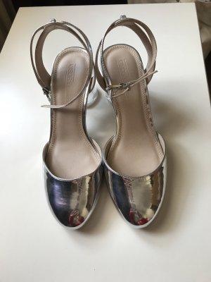 Silberne Sandaletten von Asos