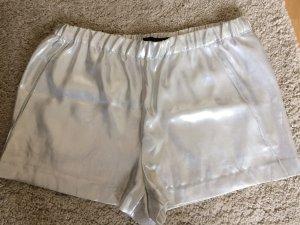 Silberne Shorts von Zara