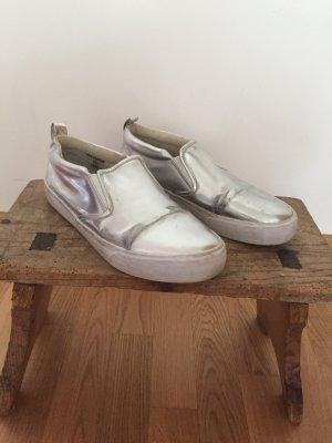 Silberne Slipper von Asos