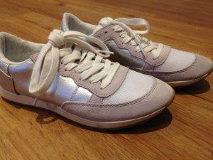 Silberne Sneakers von Pier One in Gr.37 /weiß/ Trend- wie neu-