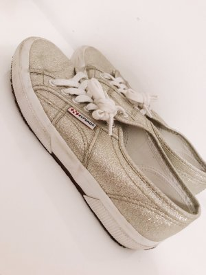 Superga Lace Shoes silver-colored