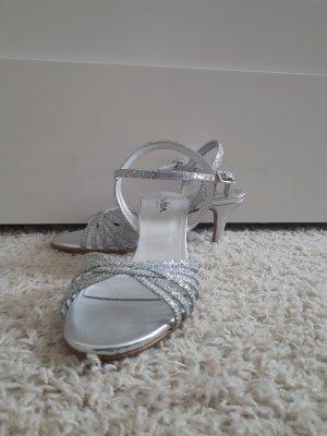 Vista Sandalias de tiras color plata