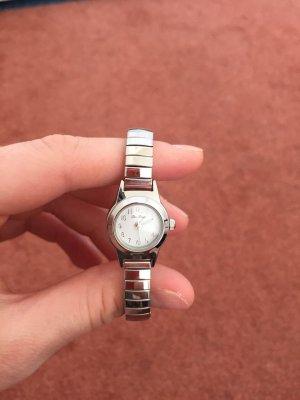 Silberne Uhr Damen schmal