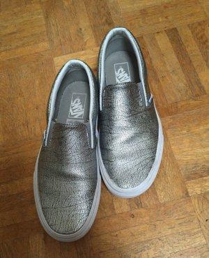 Silberne Vans Classic Slip-Ons