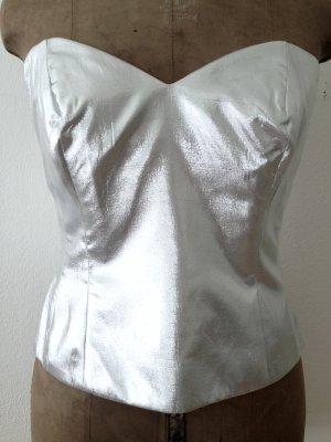 Silberne Vintage Corsage von Alba Moda, Gr. 40