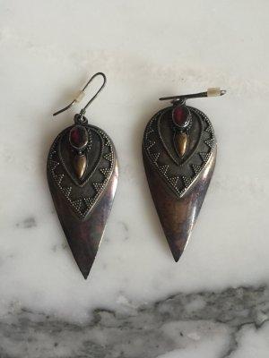 Silberne Vintage Ohrringe in Ethnolook