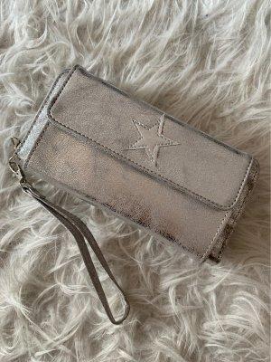 Portefeuille argenté-gris clair