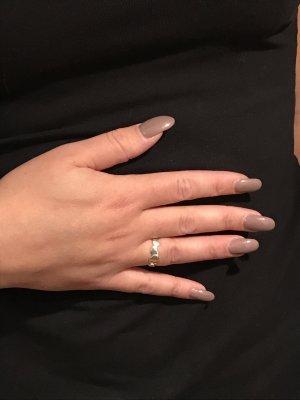 Silberner Herzen Tiffanyring