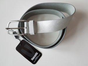 silberner Ledergürtel von Vanzetti Länge 90 - neu mit Etikett