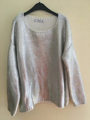 Silberner Metallic Pullover