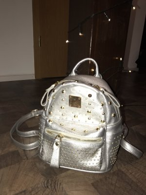 School Backpack silver-colored