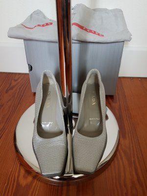 Prada Pumps silver-colored