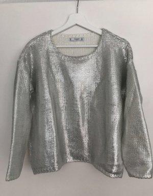 Silberner Pullover von Mango
