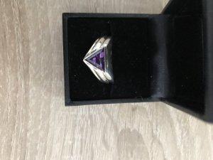 Zilveren ring zilver-donkerpaars