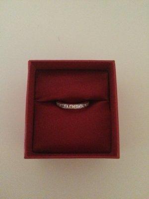 Zilveren ring zilver-wit